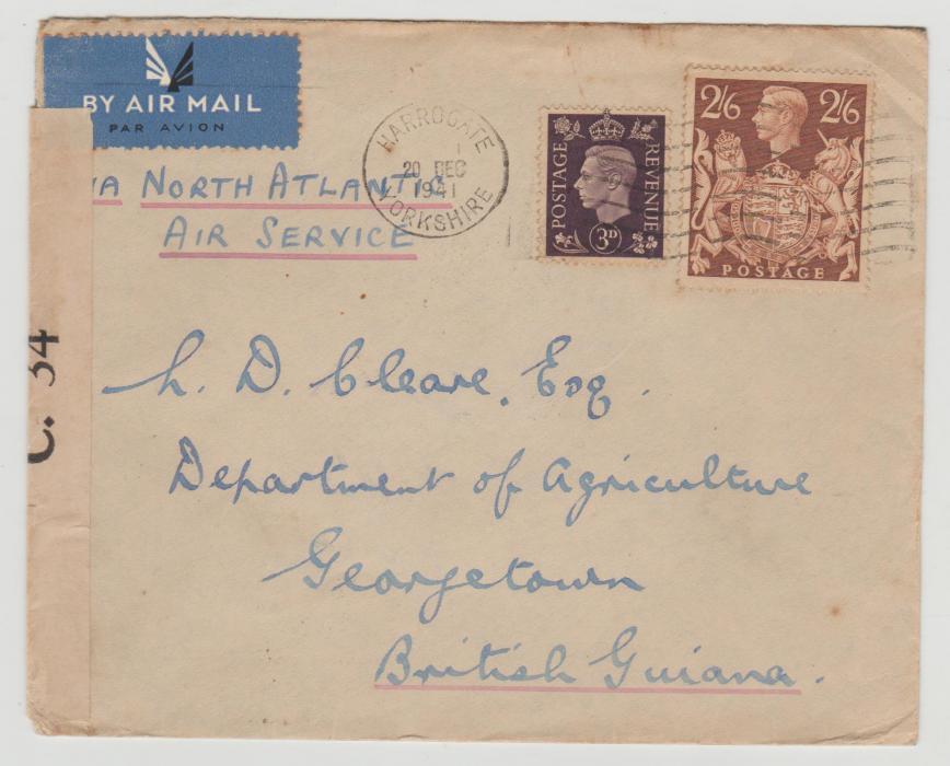 GB 2/6 value used 1941