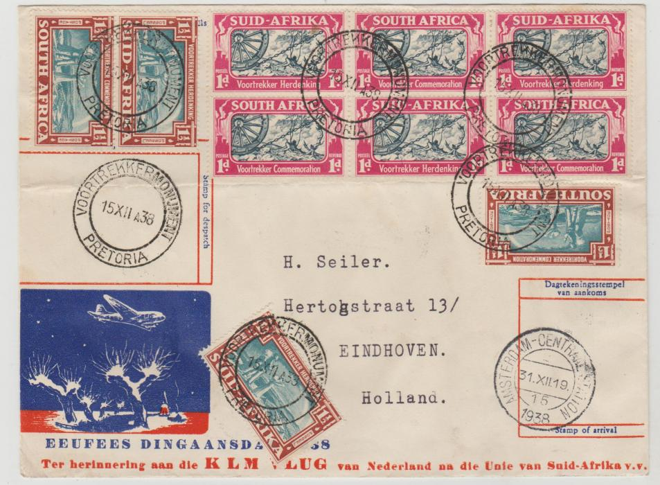 Holland to South Africa and return 1938