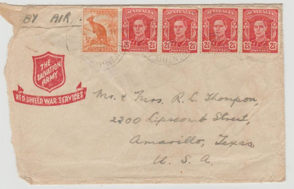 New Guinea Salvation Army envelope 1947