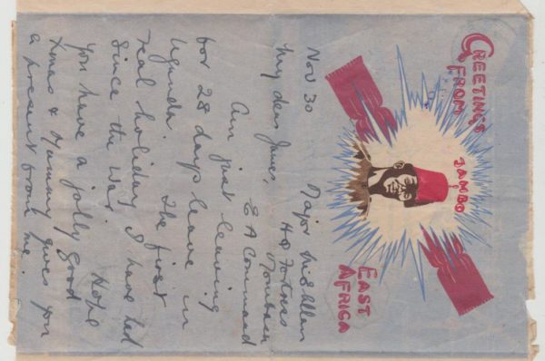 Air letter Xmas greetings 1943 in colour