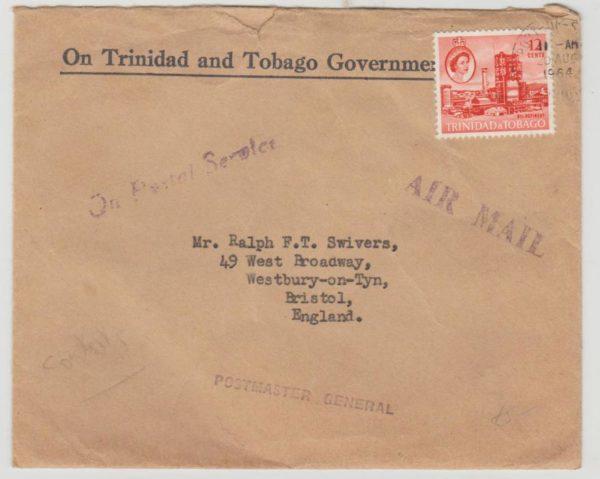 Trinidad & Tobago OHMS to Bristol 1964